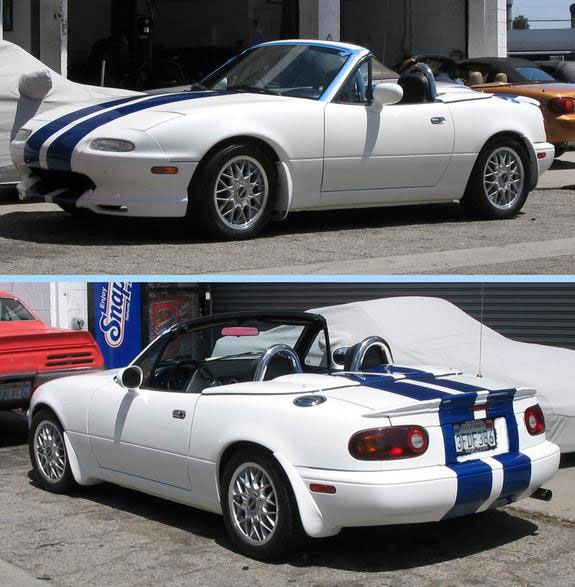 Mazda Miata 6 And 8 Racing Stripes Automobile Racing