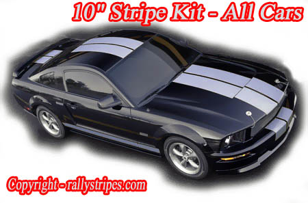 10 inch racing stripes Mustang Camaro Miata Challenger