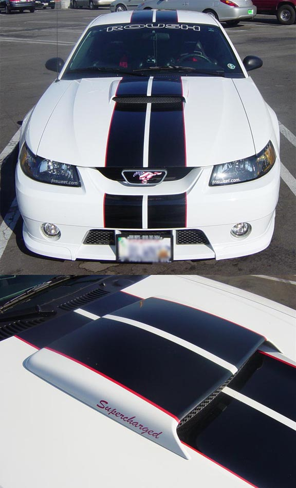 8 inch Mustang Camaro Miata Racing Stripes