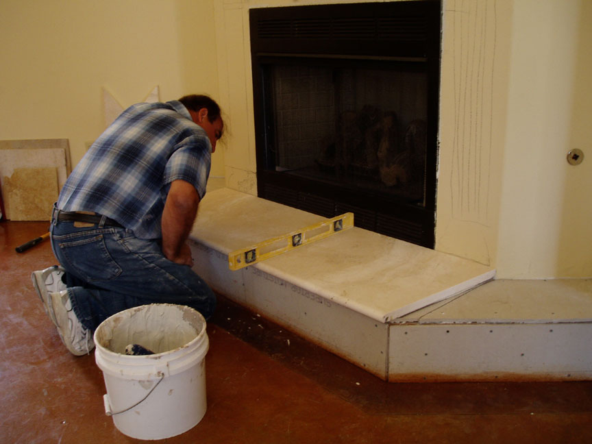 installing marble travertine granite limestone slabs to