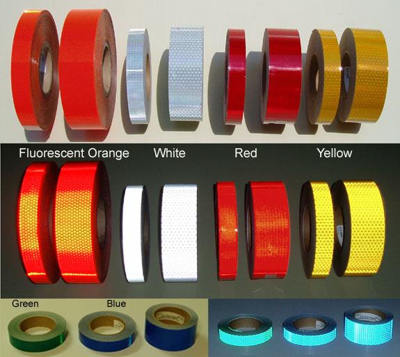 reflective bollard tape
