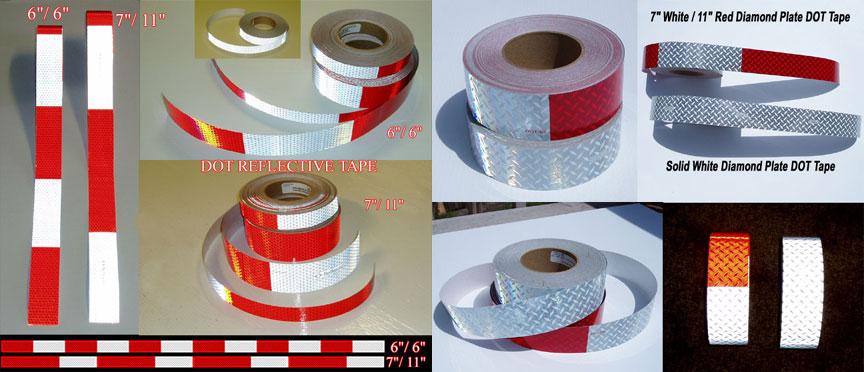 diamond tread plate dot reflective truck tape